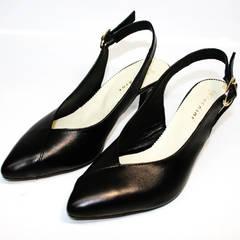 Туфли босоножки на каблуке Kluchini 5190 Black.