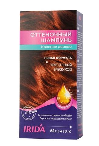 Irida Irida М classic Оттеночный шампунь для окраски волос Красное дерево 3*25мл