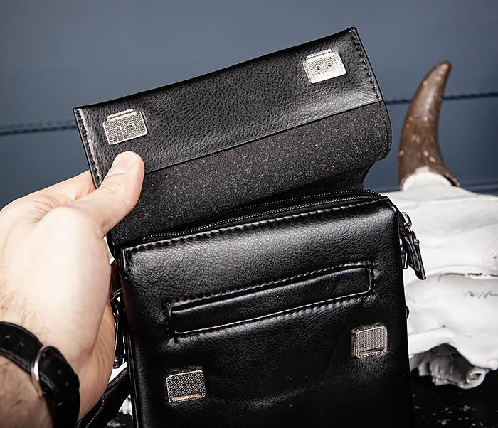 BAG560-1-1 Маленькая сумка планшет с ручкой и ремнем фото 06