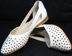Босоножки закрытый носок и пятка женские Evromoda 286.85 Summer White.