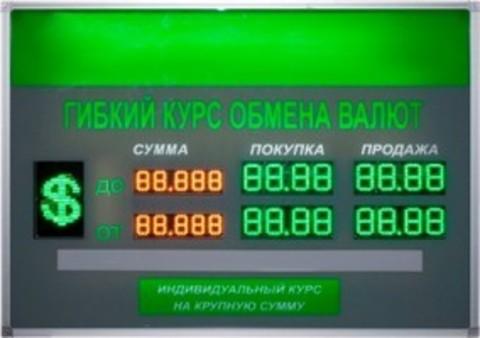 Табло курсов валют TEN6-60