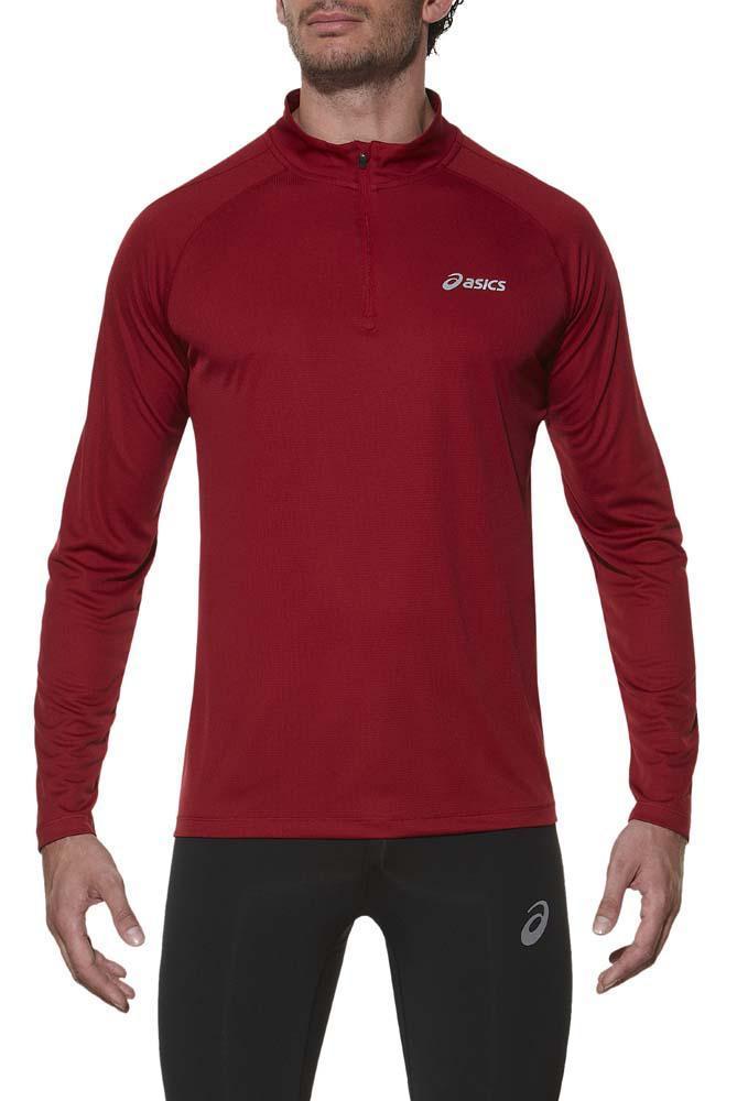 Мужская рубашка для бега Asics Ls 1/2 Zip Top (110410 6010) фото