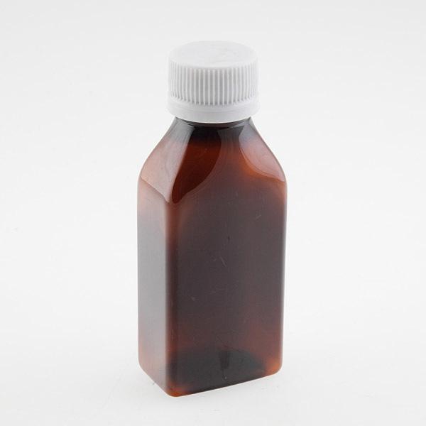 Бутылка пластиковая с белой/коричневой крышкой