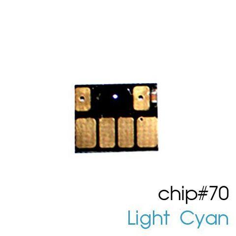 Чип  светло-голубой для картриджей (ПЗК/ДЗК) HP 70 Light Cyan для DesignJet Z2100, Z5200 (авто обнуляемый), независимый