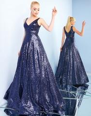 Золотое платье в пол Mac Duggal 48769