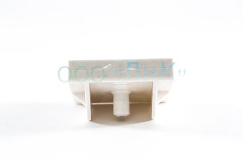Латодержатель 53 мм двойной, проходной белый с перегородкой