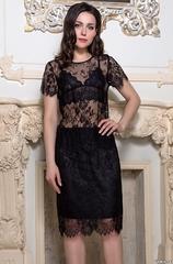 Комплект юбка с топом из черного кружева MIA-AMORE Шанель Fashion 2124