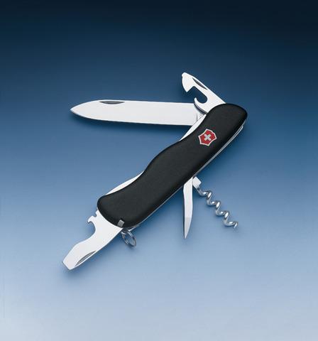 Нож Victorinox Nomad, 111 мм, 11 функций, черный*