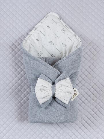 Велюровый конверт одеяло Маленькие стиляжки (серый)