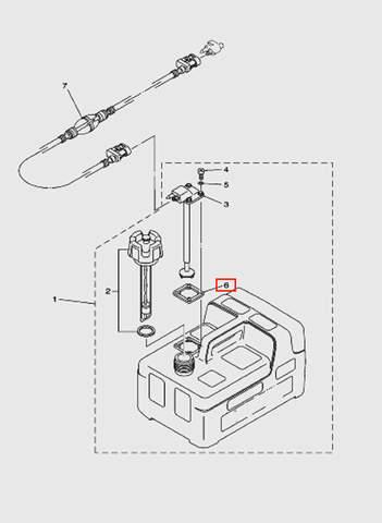 Прокладка коннектора для лодочного мотора T5 Sea-PRO (12-6)