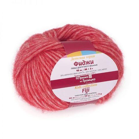 Пряжа Троицкая Фиджи 8366 меланж красный