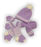 Вязаный комплект - Сиреневый. Одежда для кукол, пупсов и мягких игрушек.