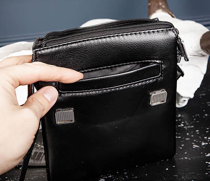 BAG560-1-1 Маленькая сумка планшет с ручкой и ремнем фото 08