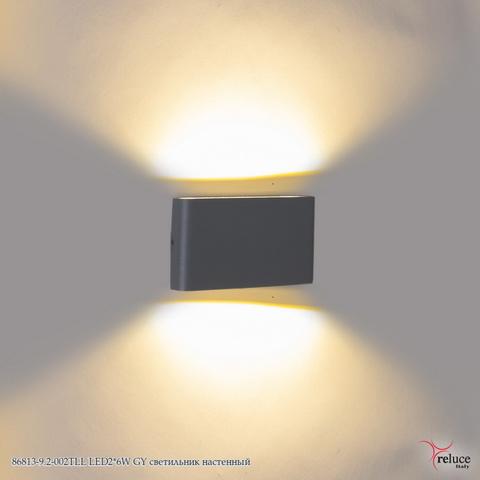 86813-9.2-002TLL LED2*6W GY светильник настенный