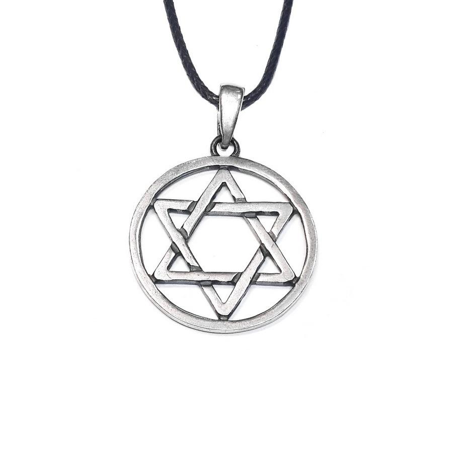 King solomon seal pendant, sterling silver