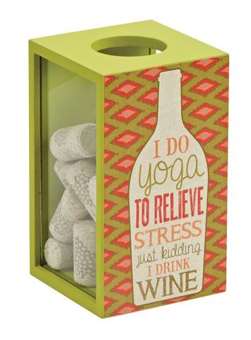 Декоративная емкость для винных пробок Boston Warehouse Yoga Wine
