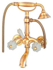 Смеситель для ванны Migliore Olivia ML.OLV-5802.BI.DO Белый/золото