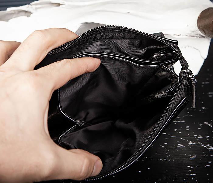 BAG560-1-1 Маленькая сумка планшет с ручкой и ремнем фото 10