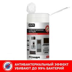 Салфетки ProМEGA Оffice  Power  антибактериальные в тубе,100 шт.