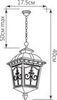 Светильник садово-парковый, 60W 220V E27 черное золото , IP44 , PL4095 (Feron)