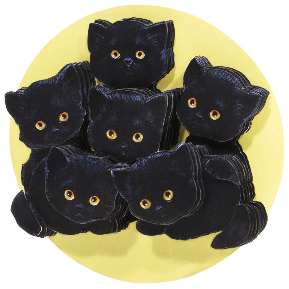 Папертоль Букет котят — готовая работа, вид сбоку.