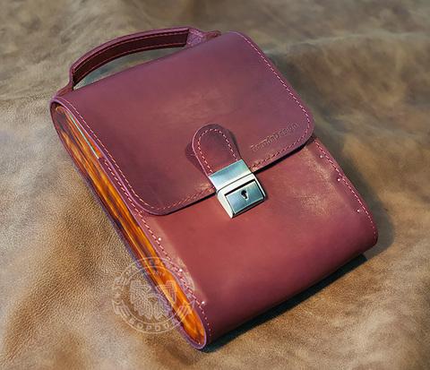 BAG380-3 Мужская сумка из кожи и дерева, ручная работа. &#34Boroda Design&#34