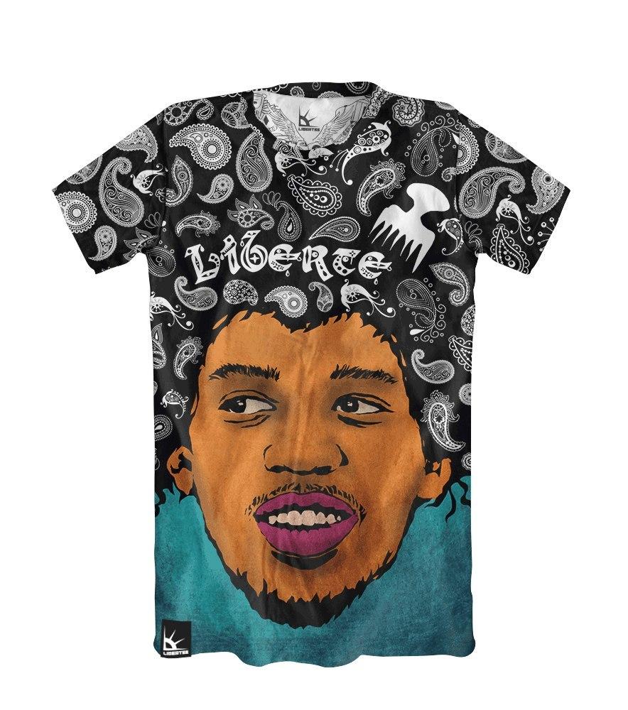 Мужская футболка с принтом Libertee Hendrix