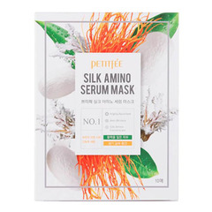 Petitfee Silk Amino Serum Mask - Тканевая маска для лица с протеинами шелка