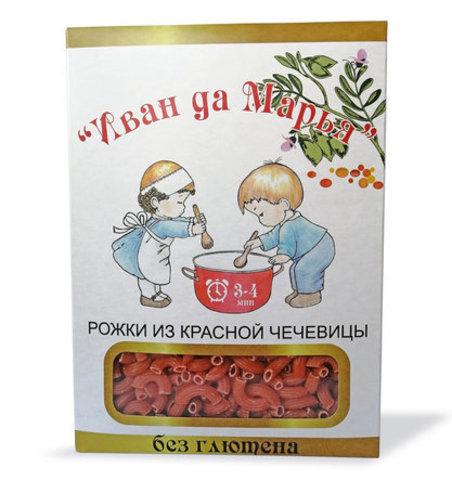 Рожки из красной чечевицы безглютеновые, Иван да Марья, 400г