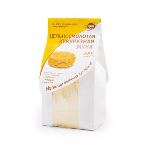 Цельносмолотая кукурузная мука 0,5кг (Образ жизни)