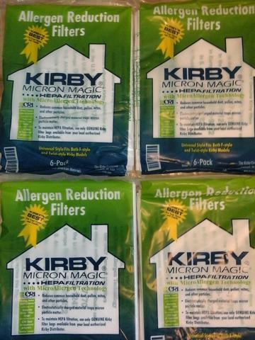 МЕГА АКЦИЯ! 24 шт х 134 руб. Четыре упаковки по 6 шт универсальных  мешков Kirby Micron Magic Hepa Allergen + ремень в подарок!
