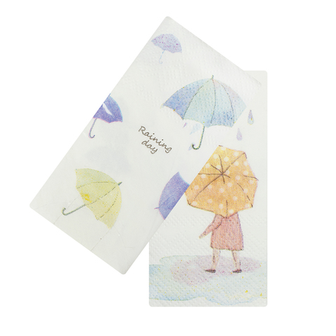 Платочки бумажные Umbrella Orange