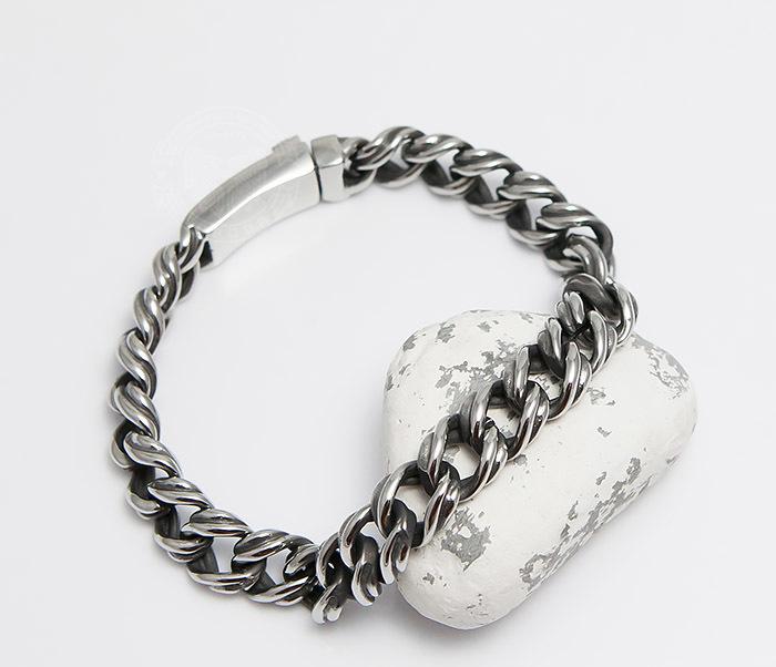 BM496 Красивый мужской браслет цепь с необычными звеньями (23 см)