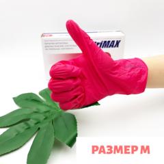 Перчатки нитриловые красные размер M