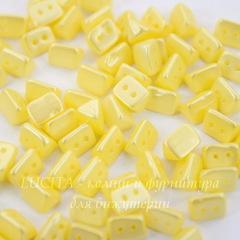 Бусина Trios Треугольник с 2 отверстиями, 6х4 мм, пастельно-желтая