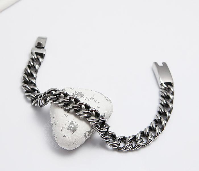 BM496 Красивый мужской браслет цепь с необычными звеньями (23 см) фото 03