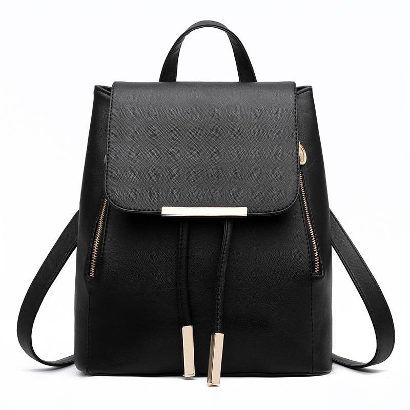 Женский средний рюкзак 24х29х15 см чёрный 3588-1