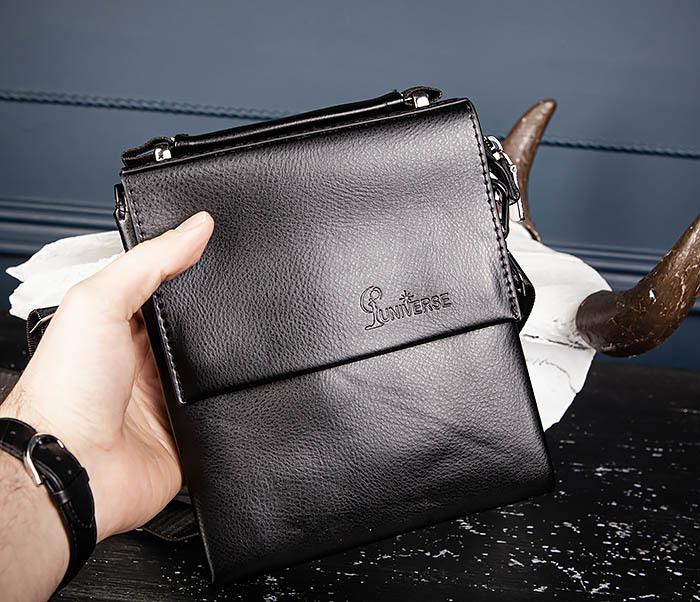 BAG560-1-1 Маленькая сумка планшет с ручкой и ремнем фото 13