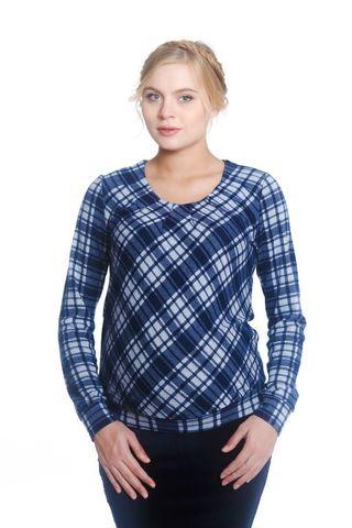 Блуза 01753 синий