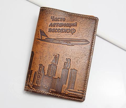 BY14-29-07 Кожаная бложка для паспорта