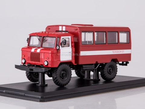 GAZ-66 fire engine staff 1:43 Start Scale Models (SSM)