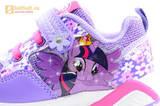 Светящиеся кроссовки для девочек Пони (My Little Pony) на липучках, цвет сиреневый, мигает картинка сбоку, 5868A. Изображение 12 из 15.
