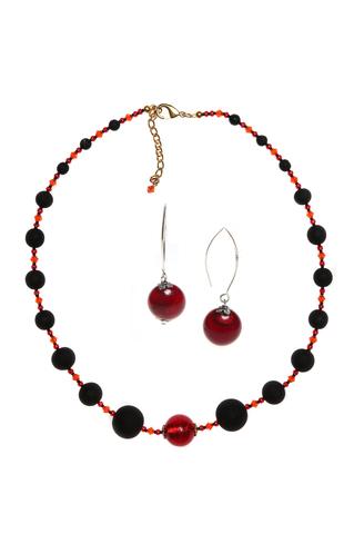 Комплект Monte Amiata Red (ожерелье и серьги)