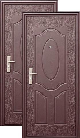 Дверь входная Кайзер E40M , 1 замок, 0,3 мм  металл, (молоток+медь)