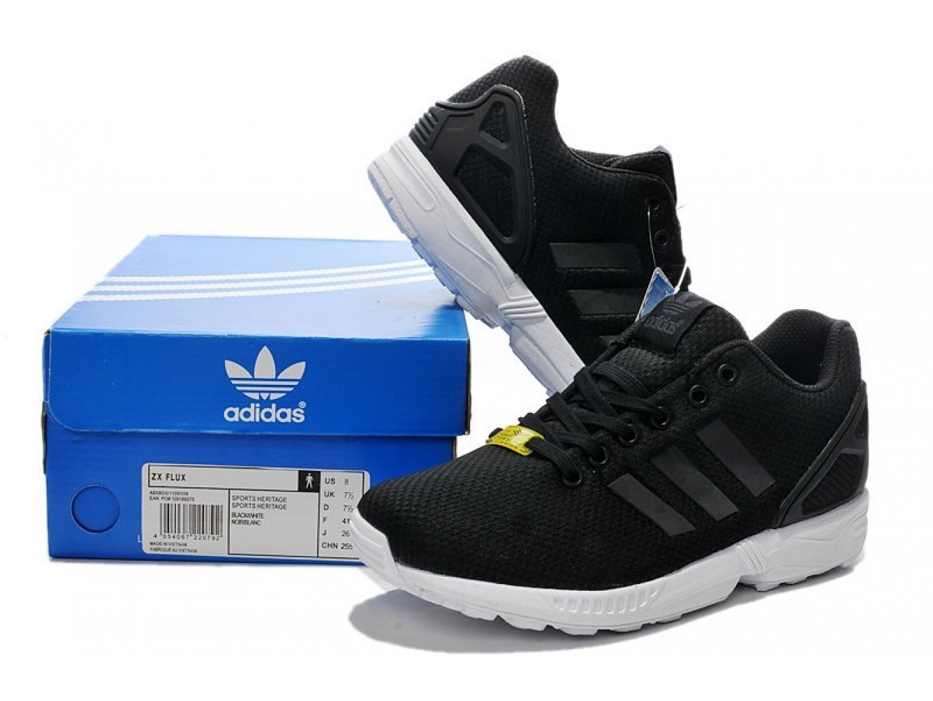 Adidas ZX Flux Base Pack (Black/Running White) (003)