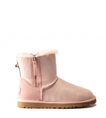 UGG Double Zip Glitter Rose