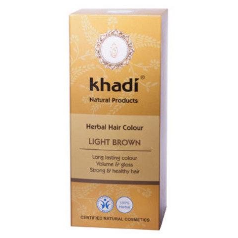 Растительная краска для волос светло-коричневая Khadi, 100 гр