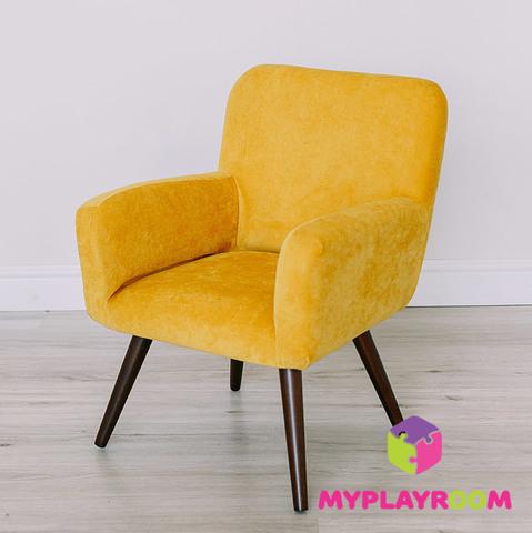 Детское стильное кресло в стиле 60-х, медовый 6