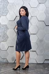 Марсия. Батальное платье из ангоры. Синий