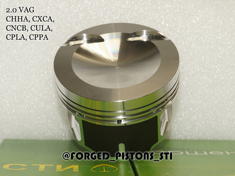 Поршни СТИ VolksWagen 2,0 CHHC, CXCA палец 23мм кольца 1,2/1,5/2,0